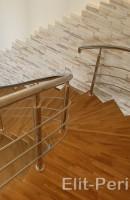 Ограждение для лестниц из нержавейки в Киеве